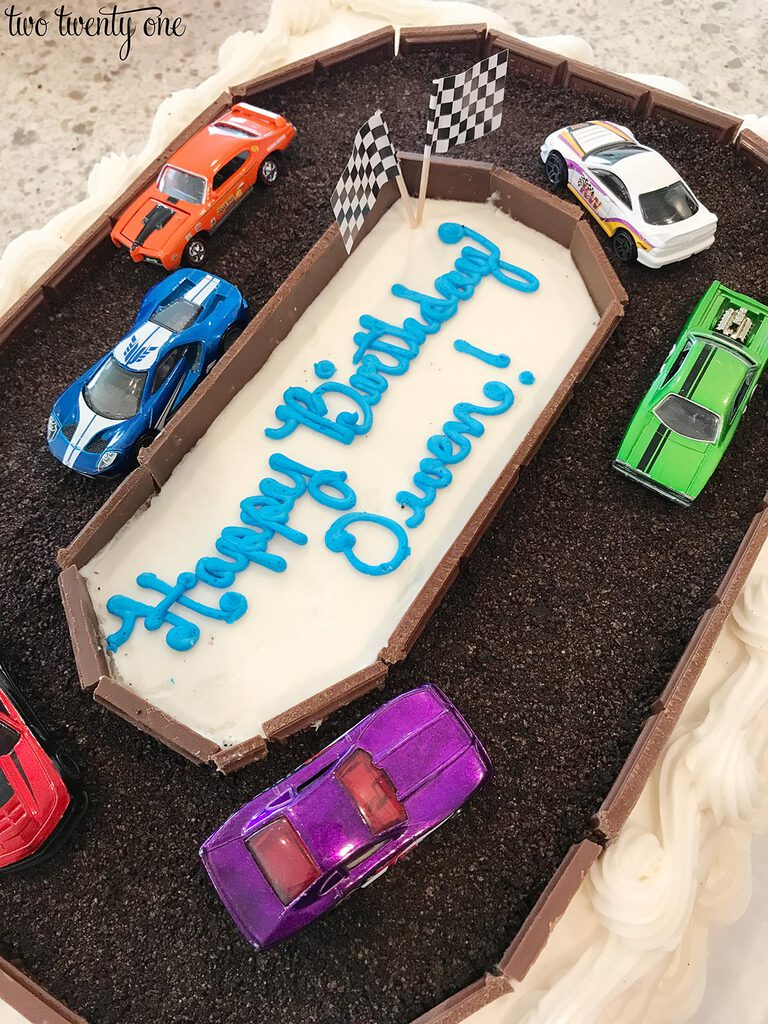 Awesome Race Car Cake A Costco Cake Hack Funny Birthday Cards Online Elaedamsfinfo