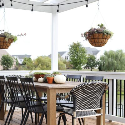 Fall Deck Decor
