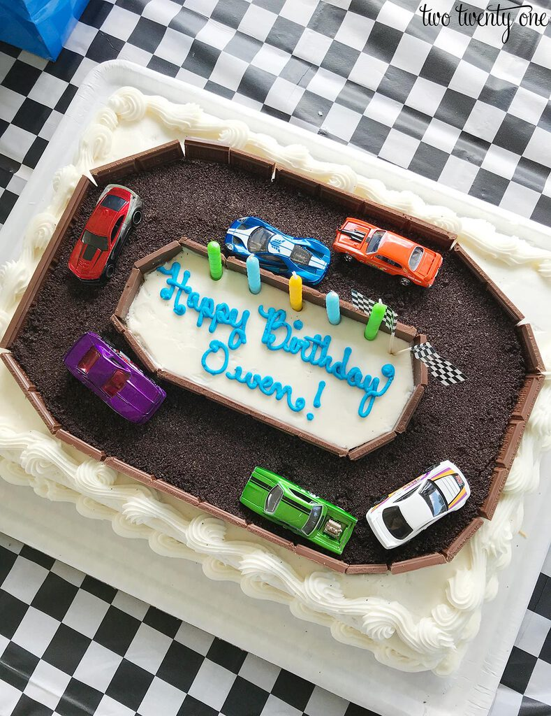 Admirable Race Car Cake A Costco Cake Hack Funny Birthday Cards Online Elaedamsfinfo
