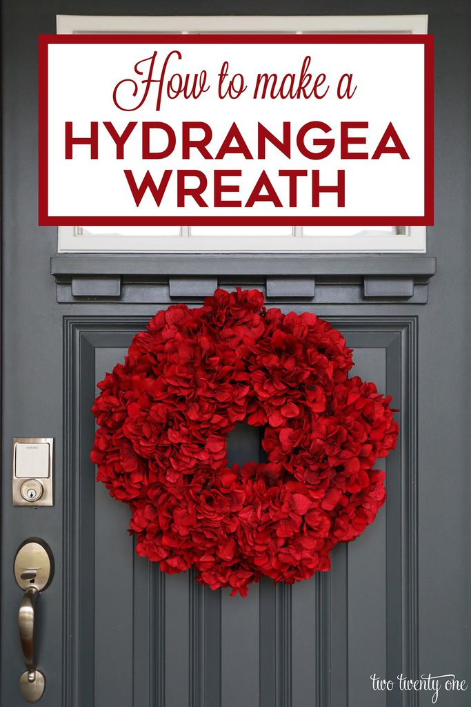 How to make a hydrangea wreath!