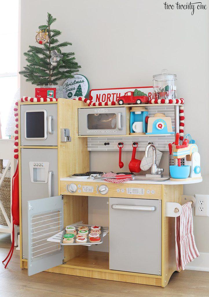 Christmas play kitchen