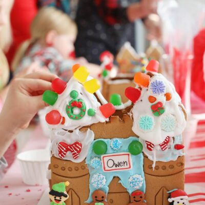 Gingerbread Castle Decorating Party