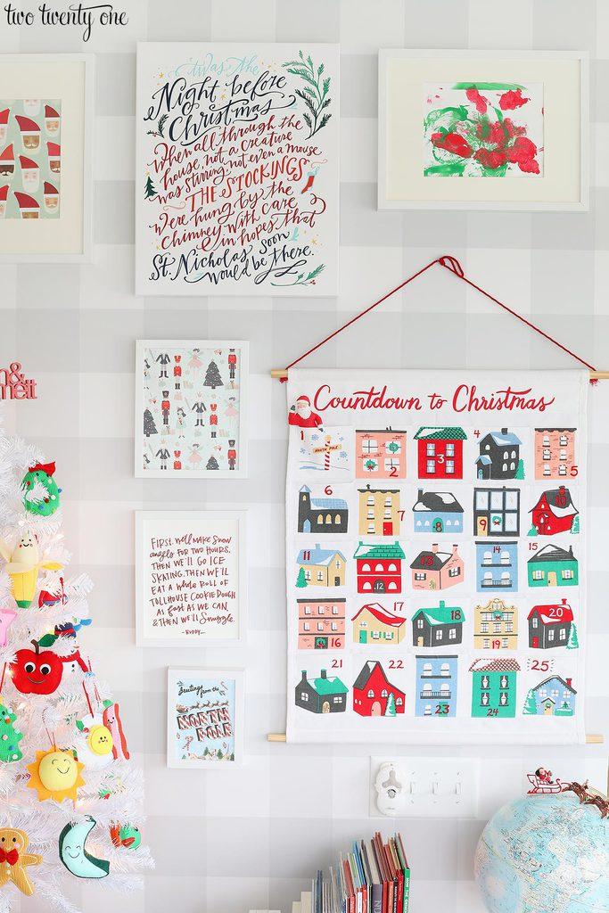 kid christmas gallery wall