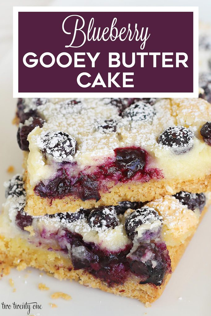 blueberry gooey butter cake