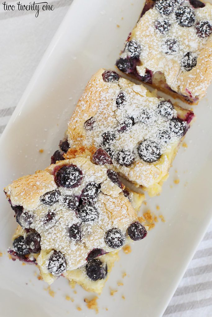 blueberry gooey butter bars