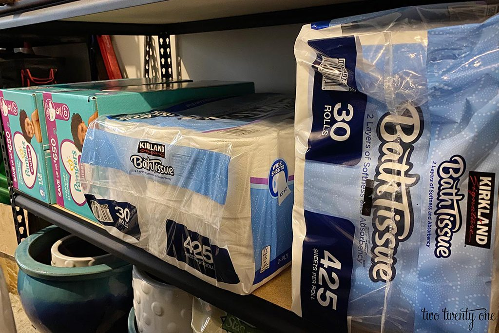 diapers and toilet paper