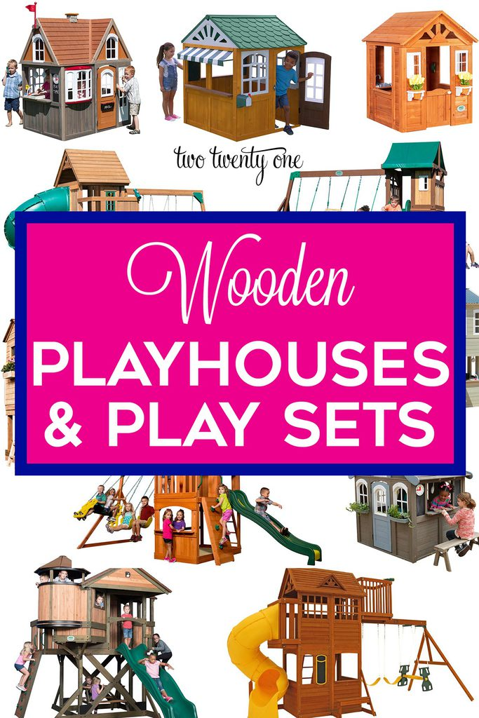 wooden play sets and playhouses