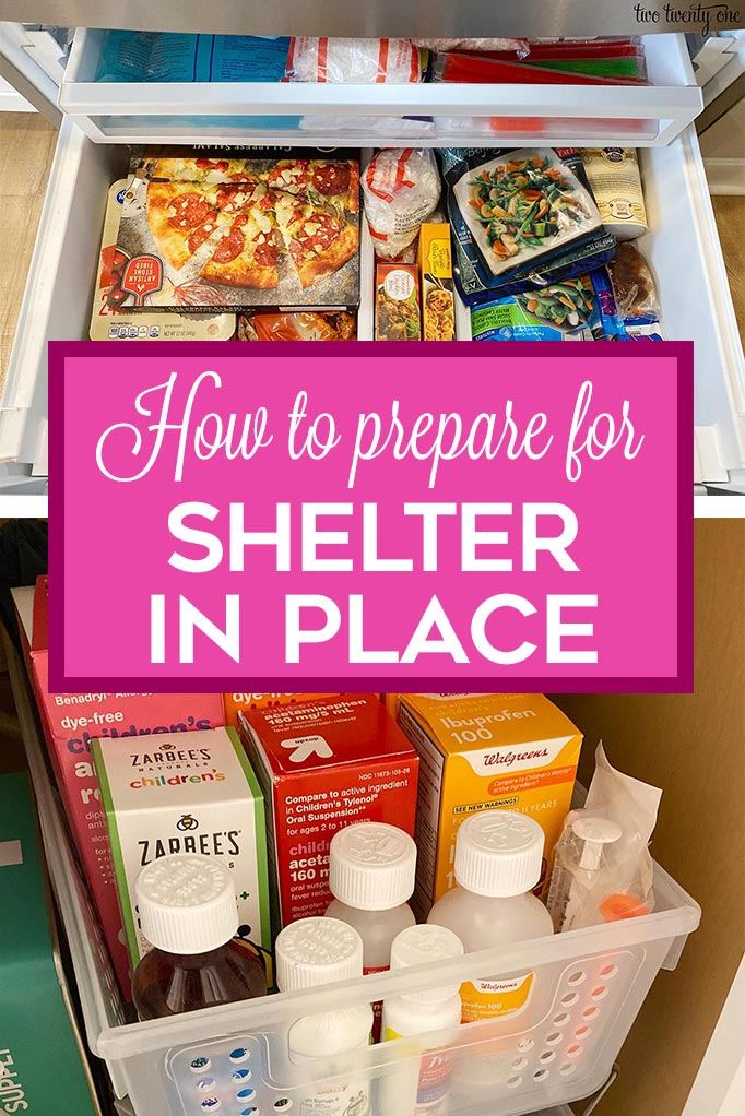 how to prepare for shelter in place