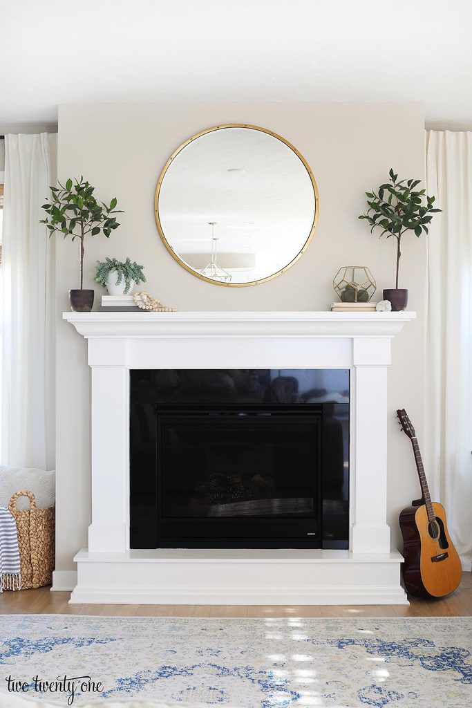 neutral spring mantel