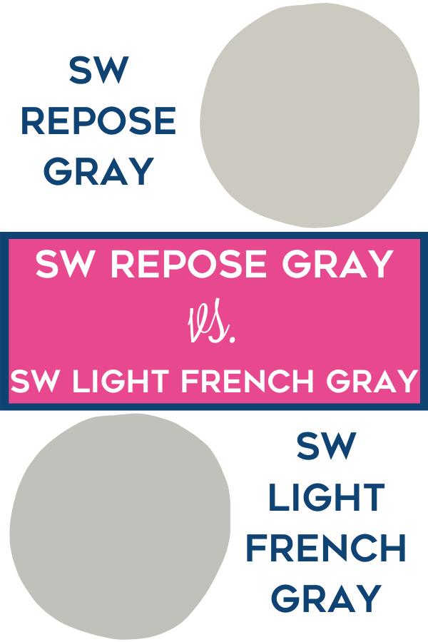 SW Repose Gray vs. SW Light French Gray