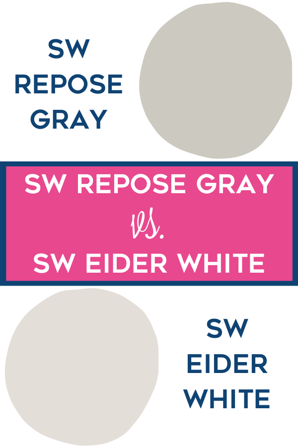 SW Repose Gray vs. SW Eider White