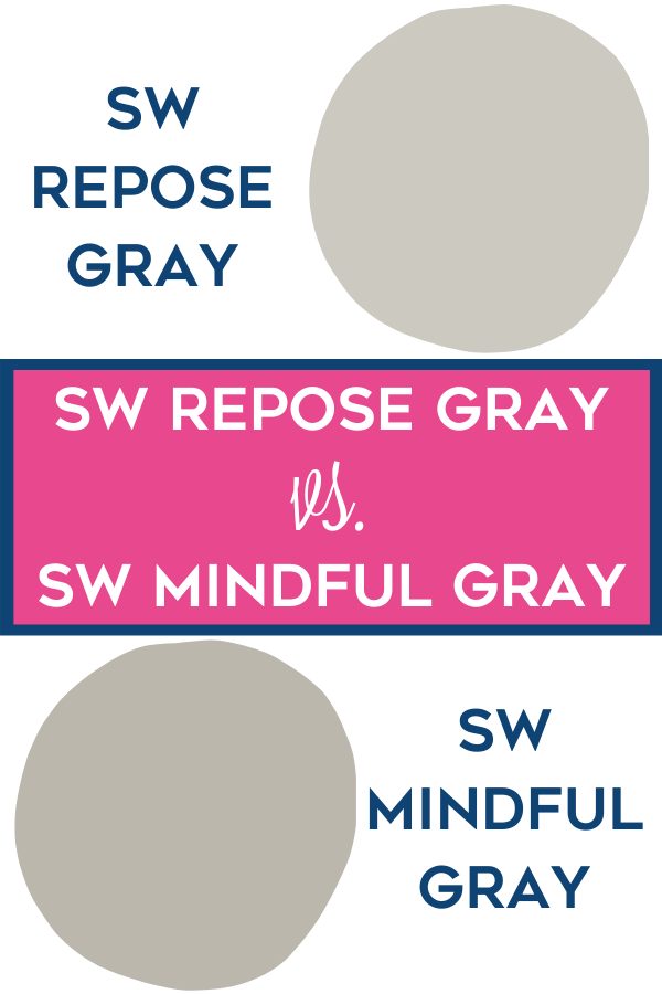 SW Repose Gray vs. SW Mindful Gray