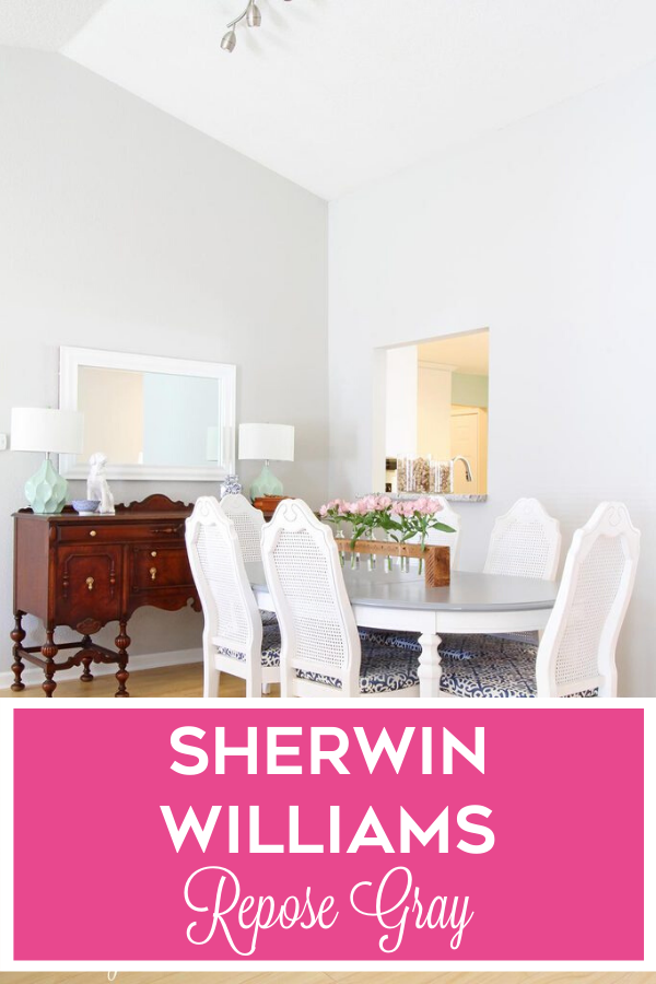 Looking for a true gray with very slight warm undertones? Check out Sherwin Williams Repose Gray!