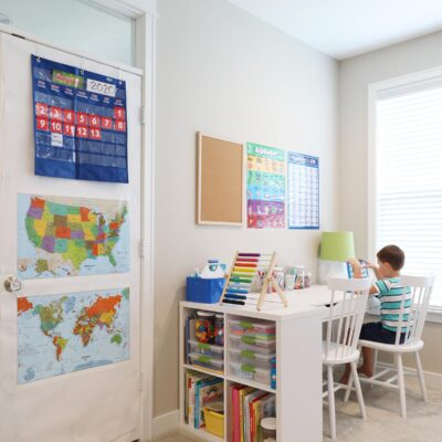 Organized Homeschool Area