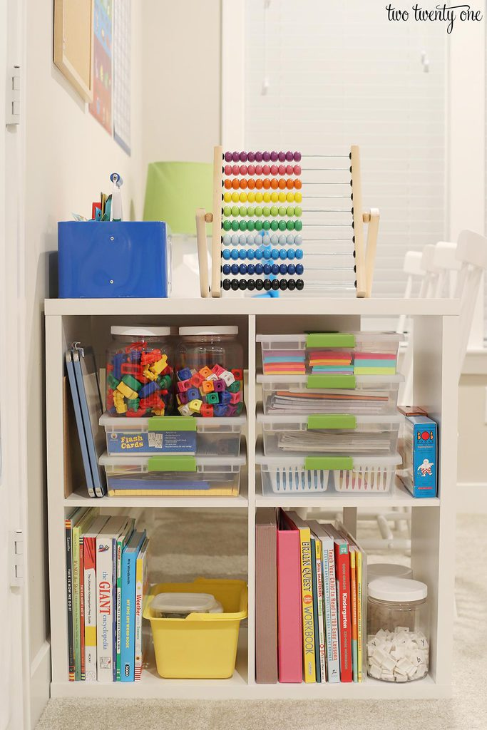 homeschool shelf