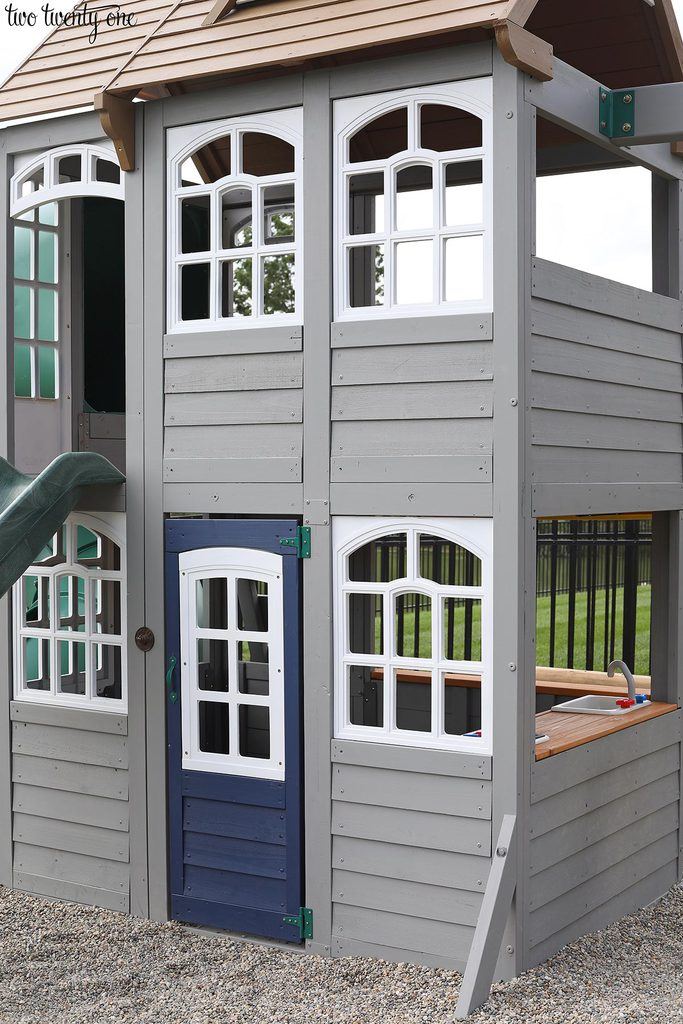 painted gray playset