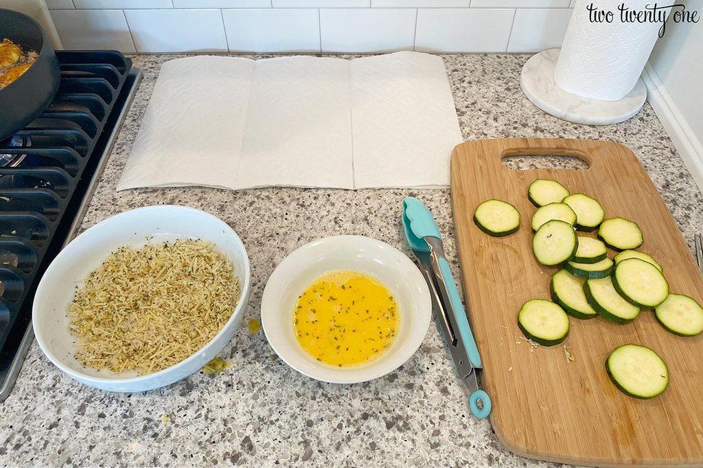 frying zucchini