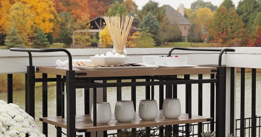better homes and gardens bar cart
