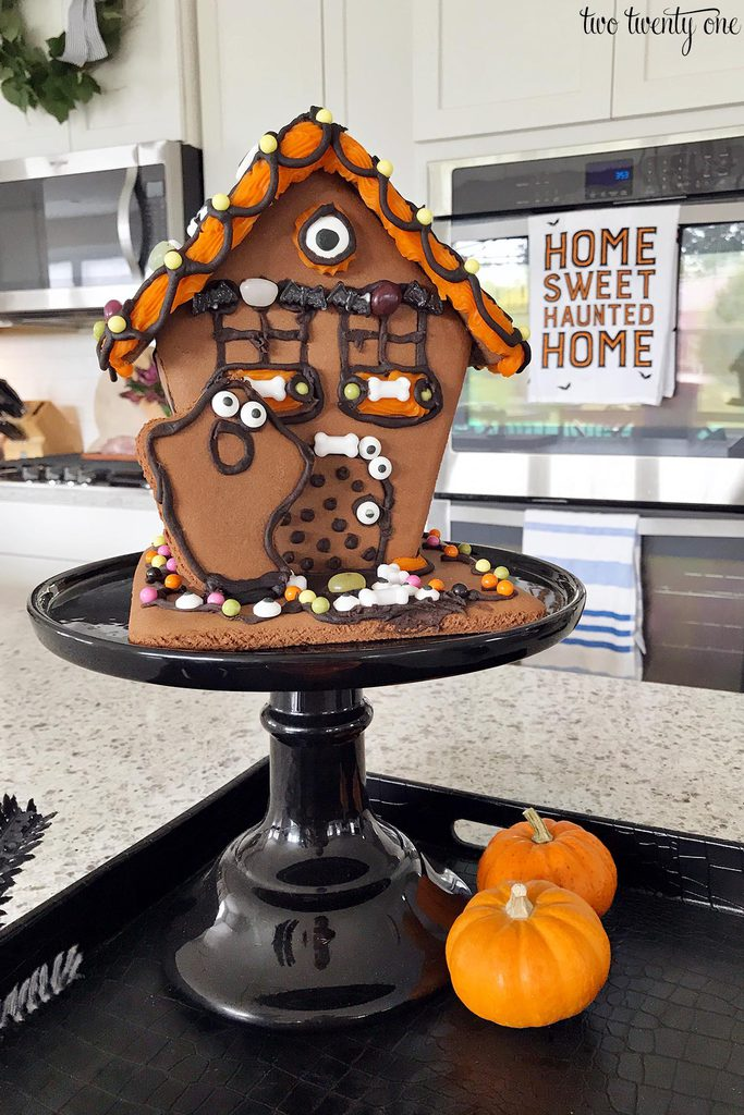 trader joe's halloween gingerbread house