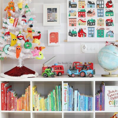 Kids Christmas Tree and Playroom Wall