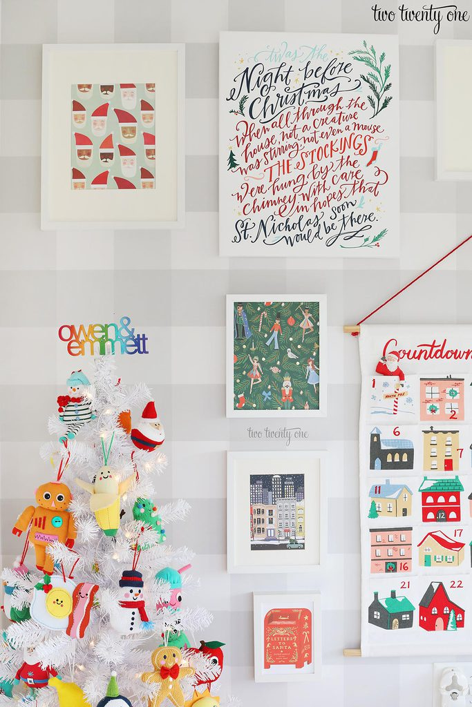 playroom gallery wall