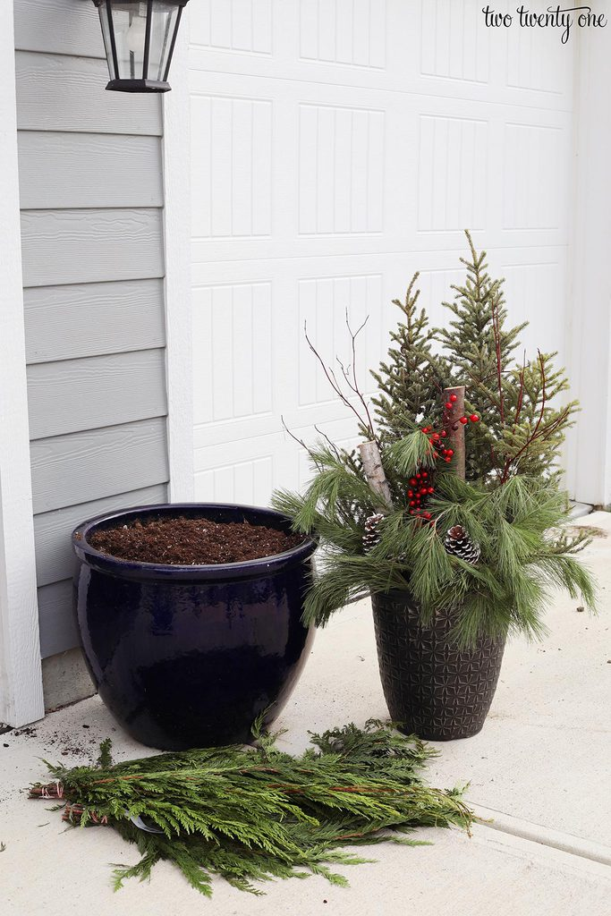 Costco Christmas outdoor planter