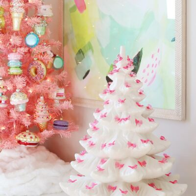 white ceramic Christmas tree