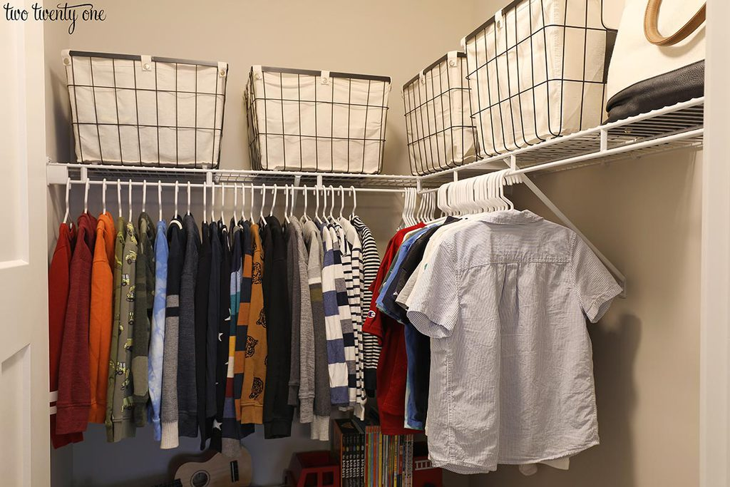 boy closet organization