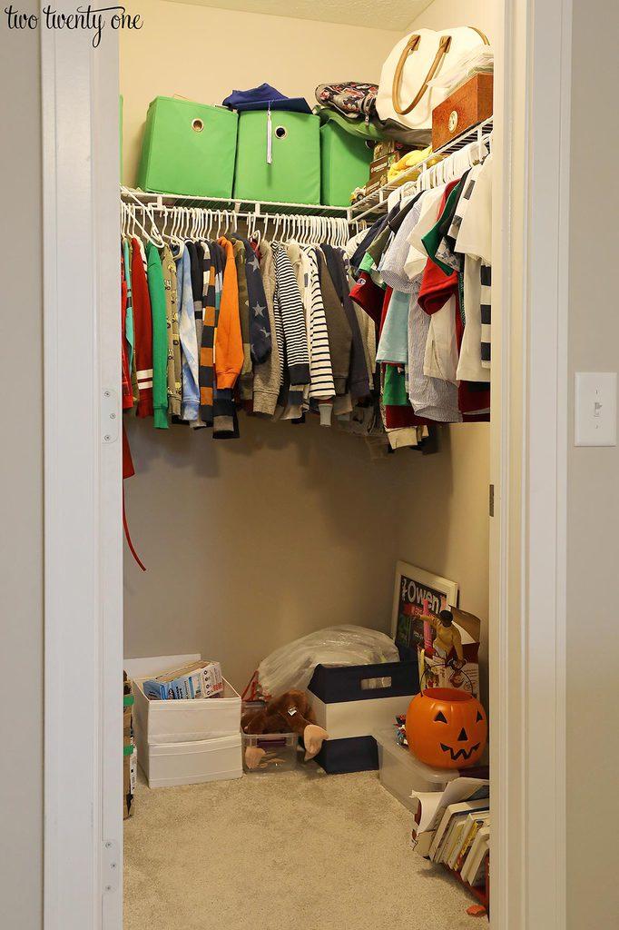 messy boy closet