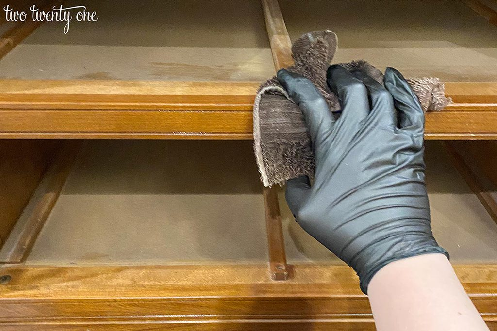 cleaning old furniture