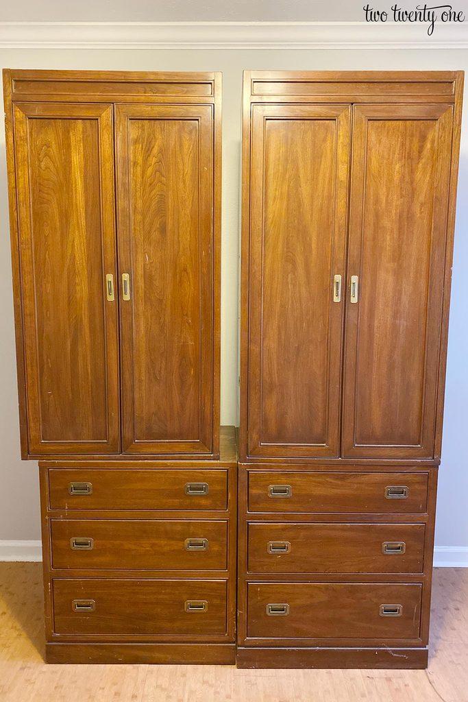 Ethan Allen armoires