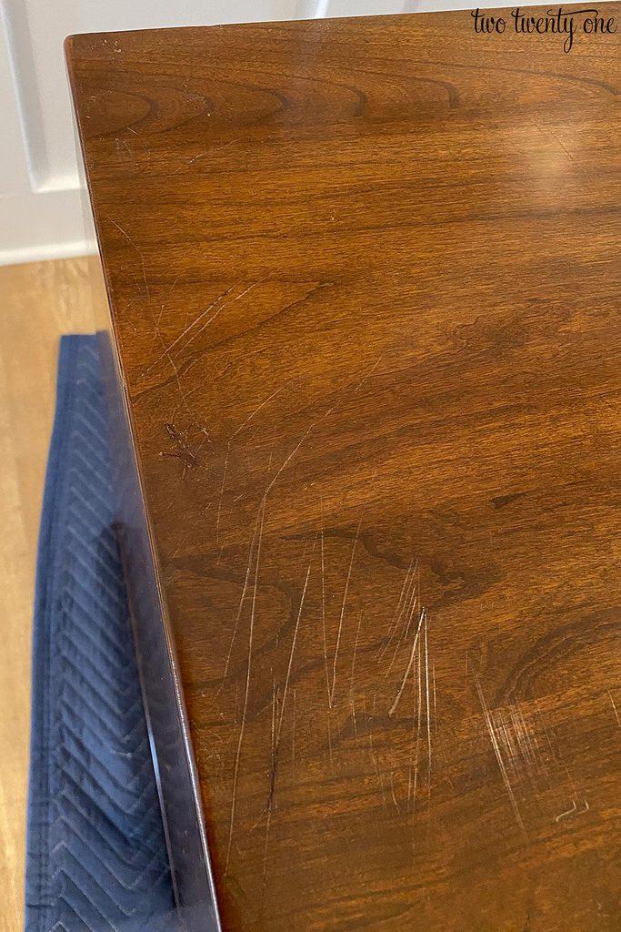 fixed furniture scratches
