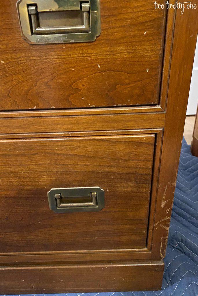 wooden furniture scratches