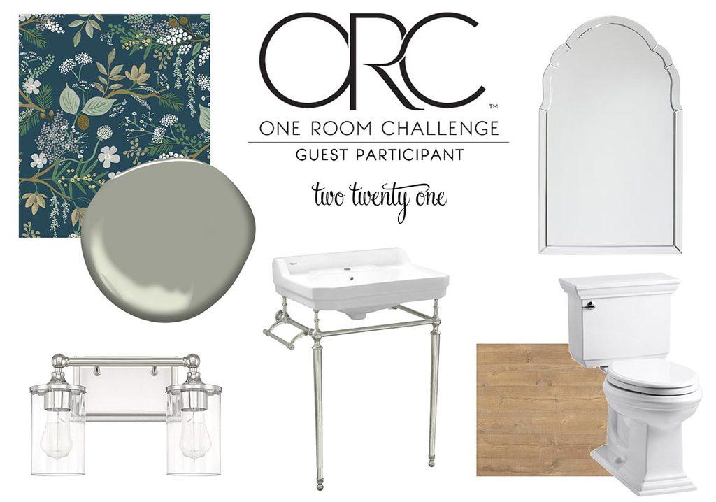 one room challenge two twenty one half bath design plan