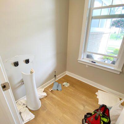 Powder Room Demo & Progress – Spring 2021 One Room Challenge – Week Five