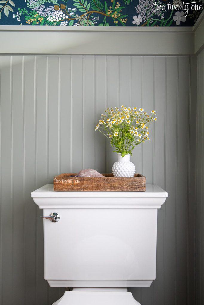 kohler memoirs stately toilet in powder room