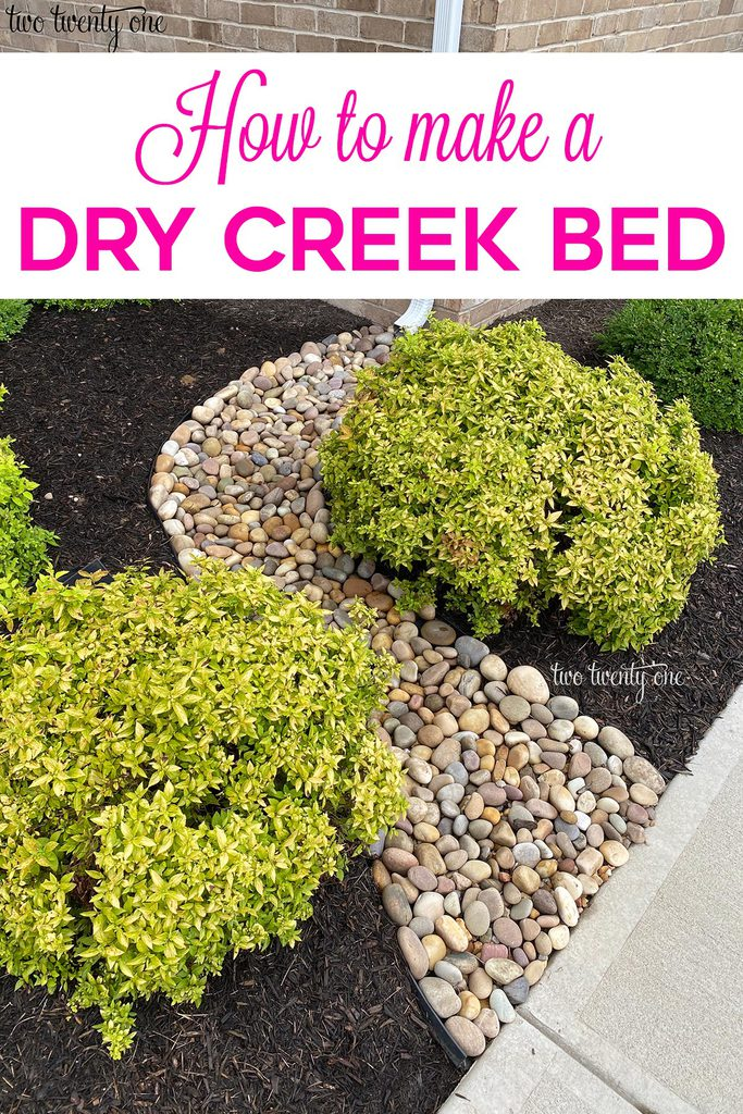 How to make a dry creek bed