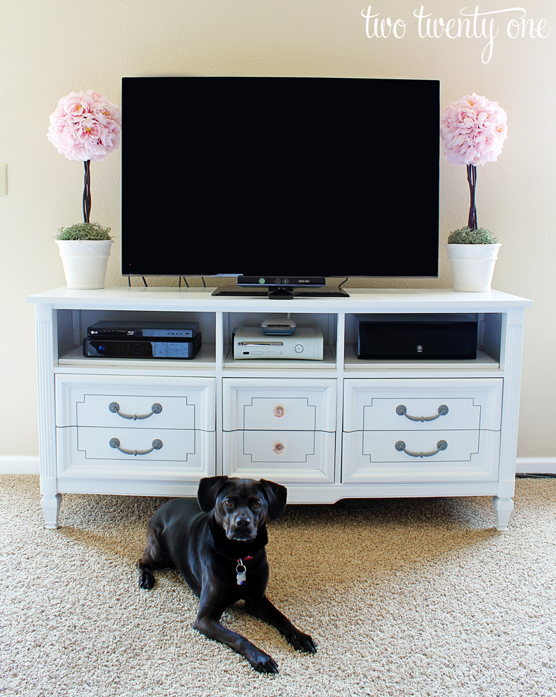 bedroom tv stand dresser. How to Turn a Dresser Into TV Stand  DIY Two Twenty One