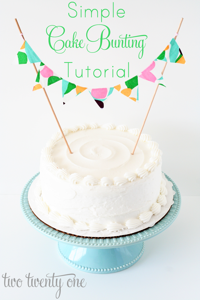 How To Make Bunting Cake Topper
