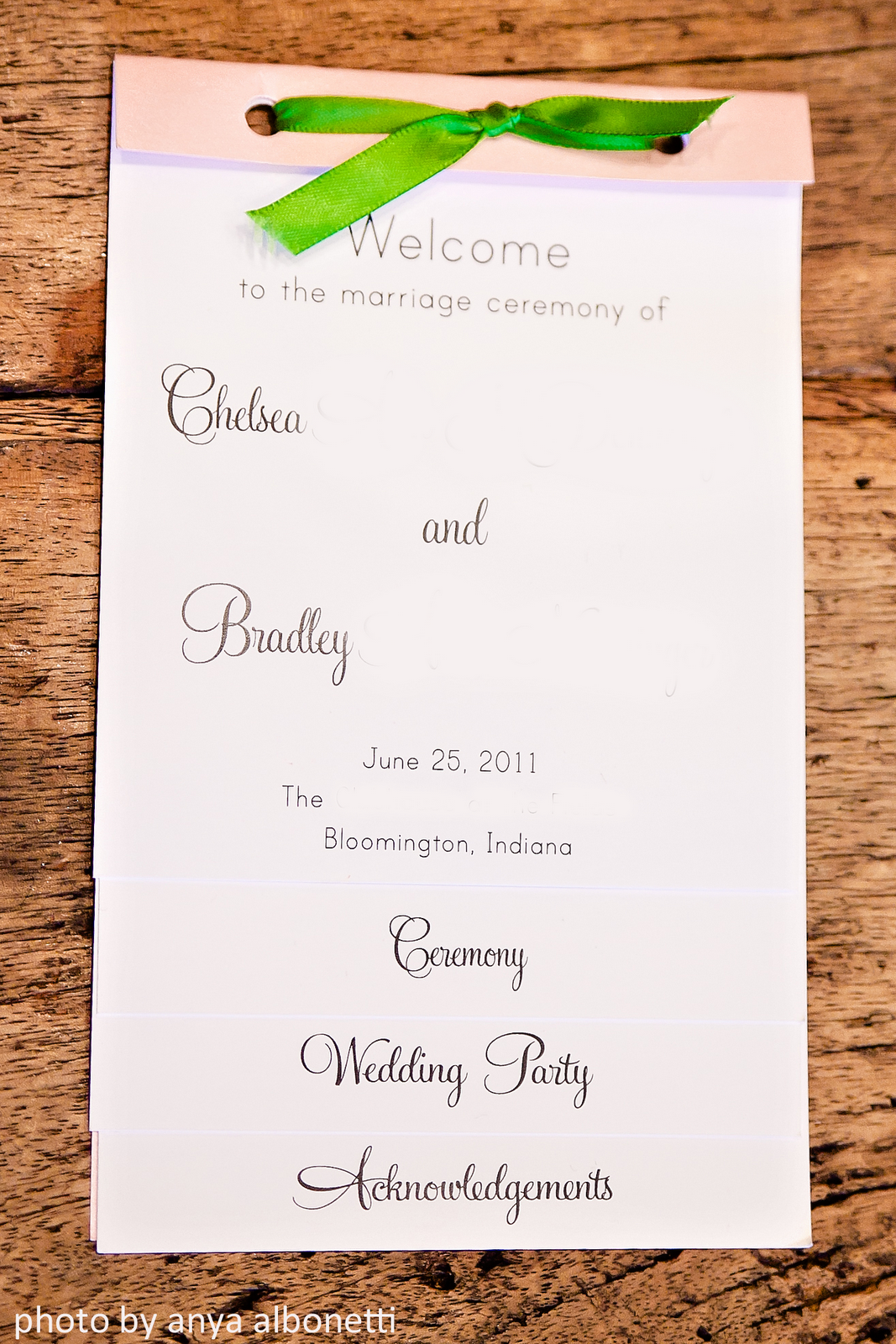 Our Wedding: The Details