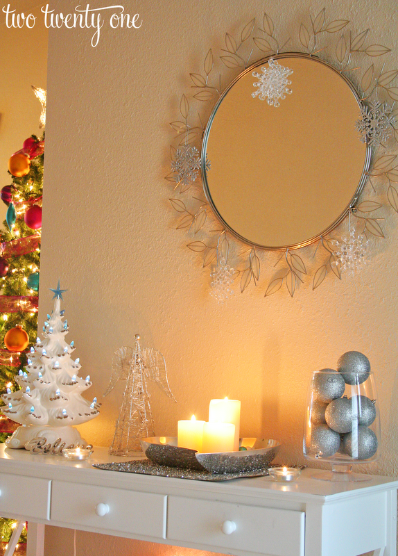 christmas decor part two entryway - Entryway Christmas Decorations