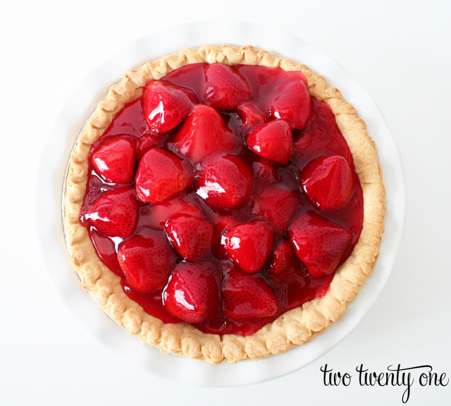 Fresh Strawberry Pie - Hoosier Homemade