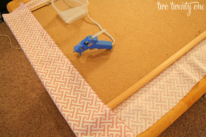 Faux Nail Head Trimmed Cork Board Two Twenty One