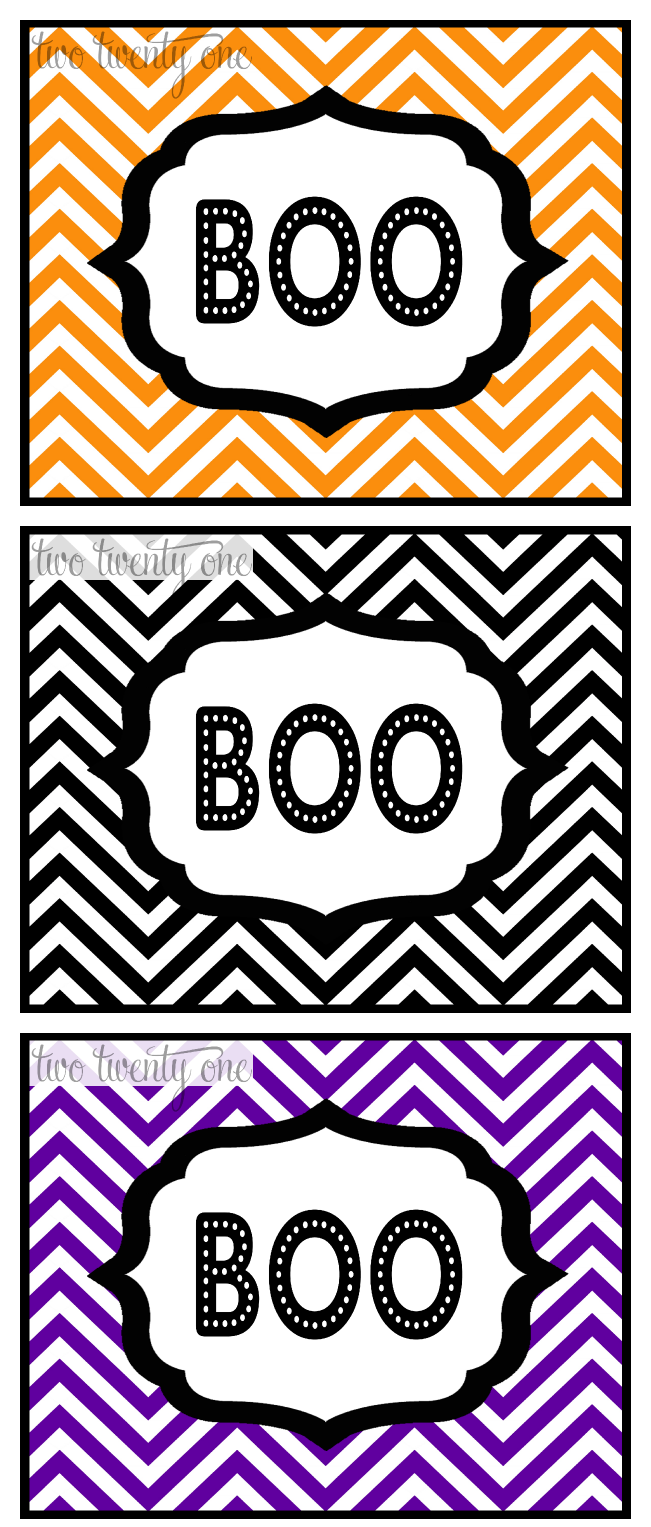 BOO! in 3 Colors by Two Twenty One.