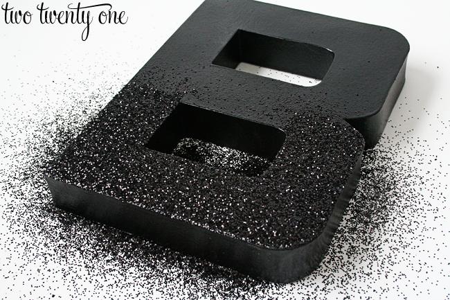 DIY Glitter Letters Mod Podge}