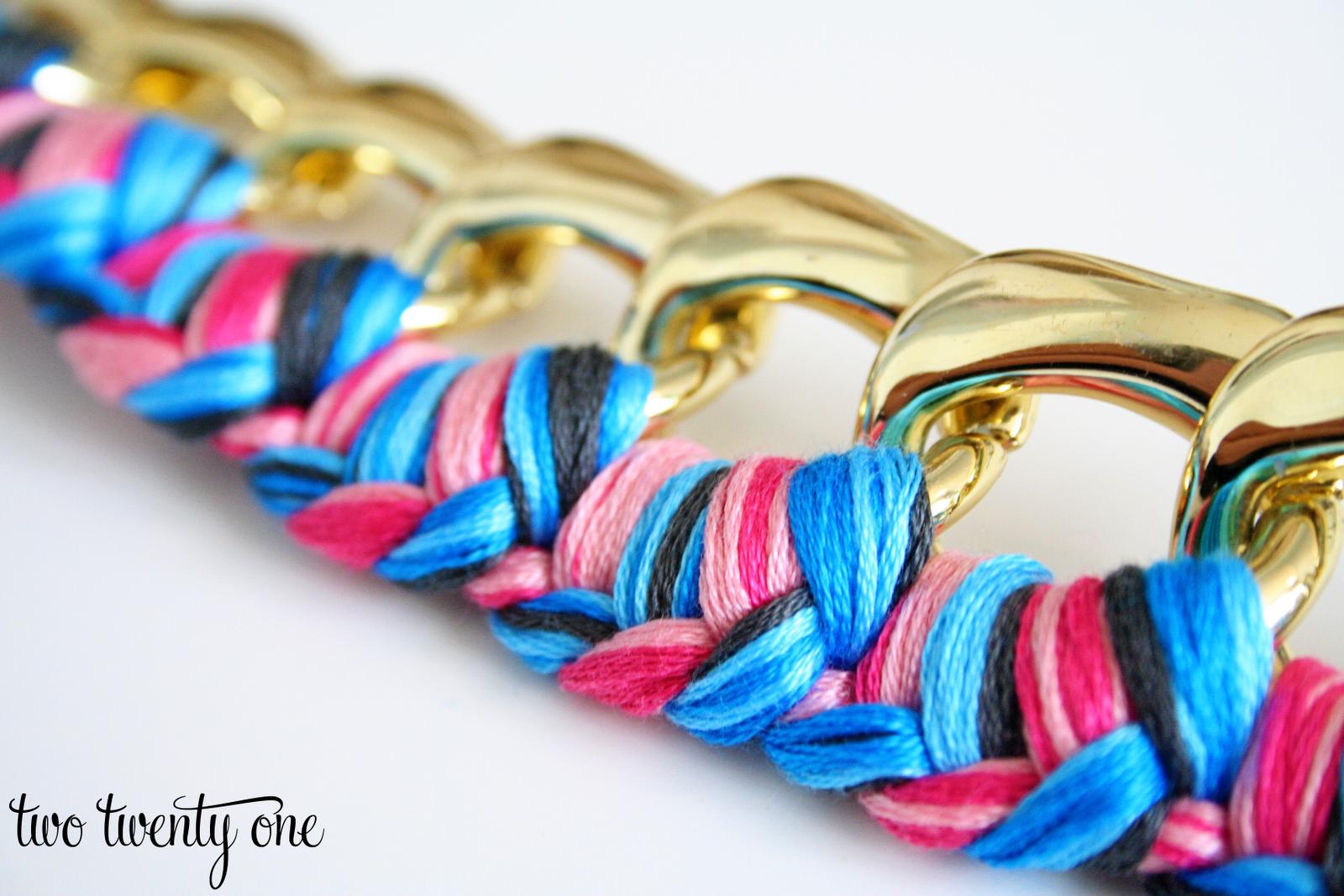Braided Chain Bracelet {How to Make a Bracelet}